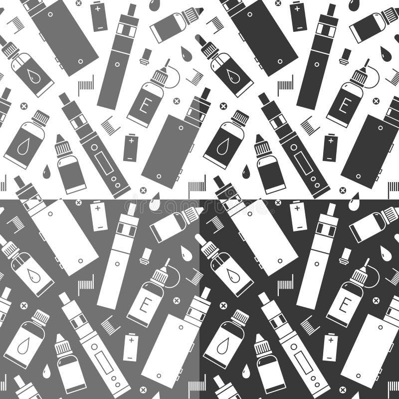 Картина вектора безшовная vape, e-сигареты бесплатная иллюстрация