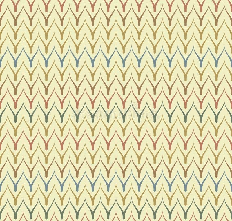 Картина вектора безшовной этнической ткани безшовная Печать геометрического тонкого зигзага родная Фольклорный мексиканский орнам иллюстрация вектора