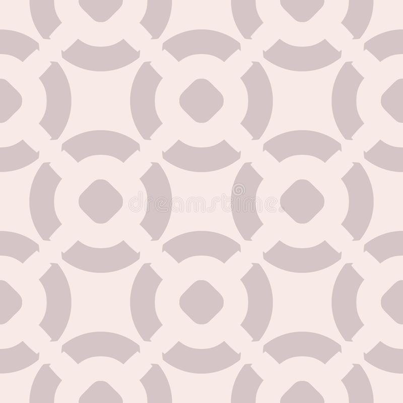 Картина вектора геометрическая безшовная в мягких пастельных цветах, бледных - пинк и сирень иллюстрация вектора
