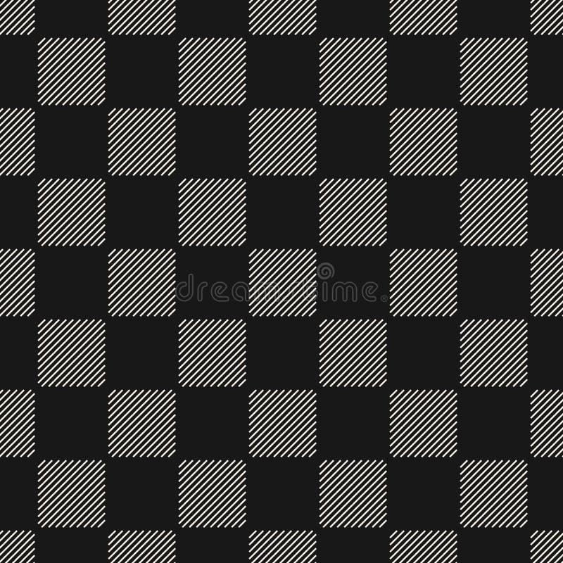 Картина вектора геометрическая безшовная с тонкими раскосными линиями, квадратами, решеткой иллюстрация штока