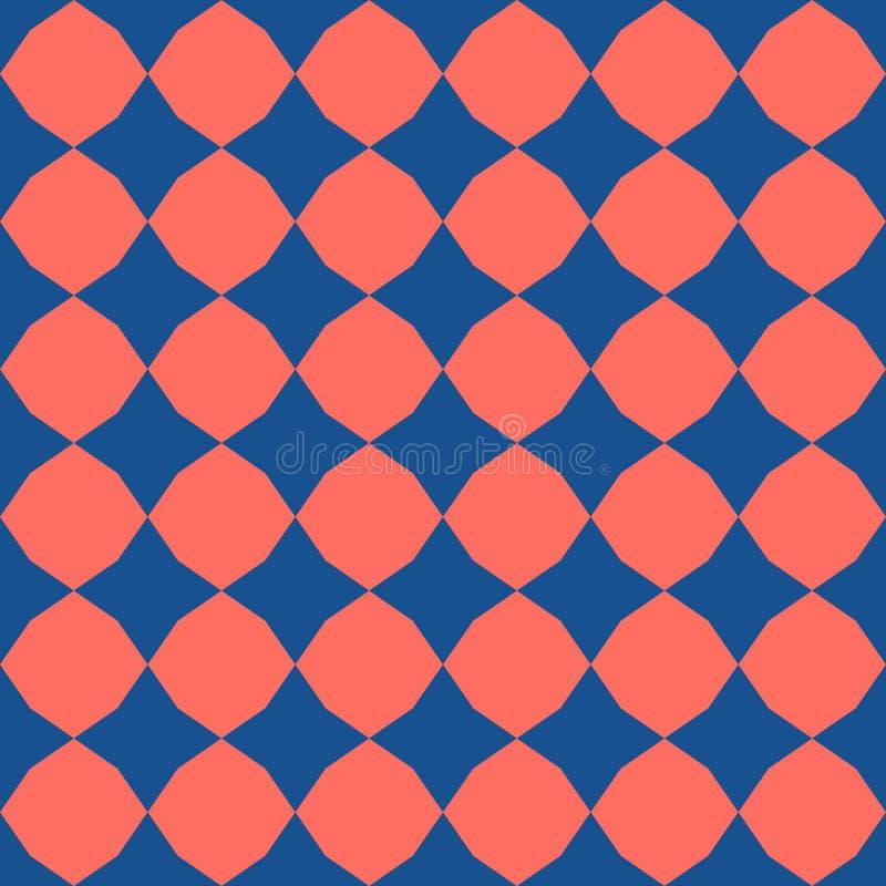 Картина вектора геометрическая безшовная Текстура простого конспекта красочная checkered иллюстрация штока