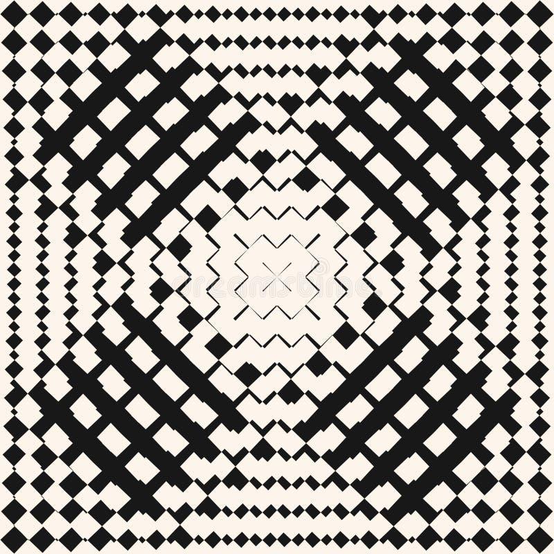Картина вектора геометрическая checkered безшовная Радиальное переходной эффект градиента бесплатная иллюстрация