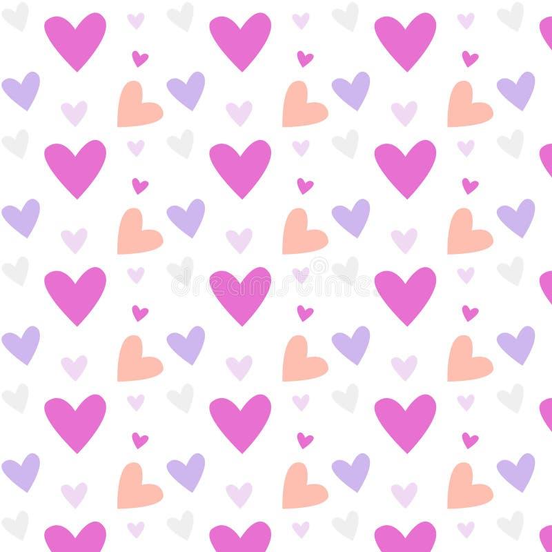 Картина вектора дня ` s валентинки безшовная стоковая фотография rf