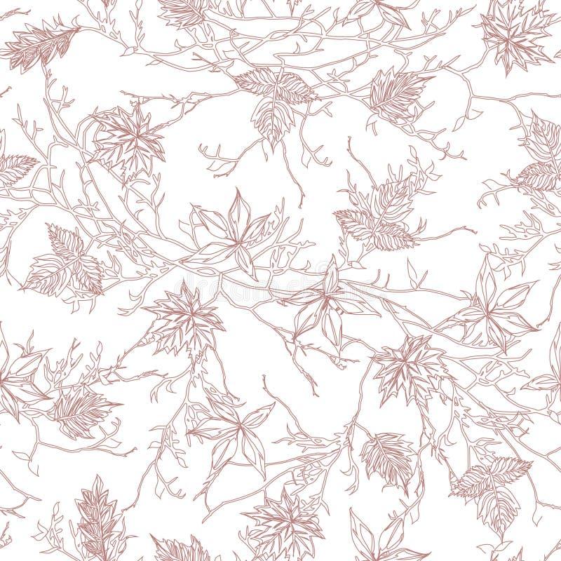 Картина вектора дерева Брайна безшовная бесплатная иллюстрация