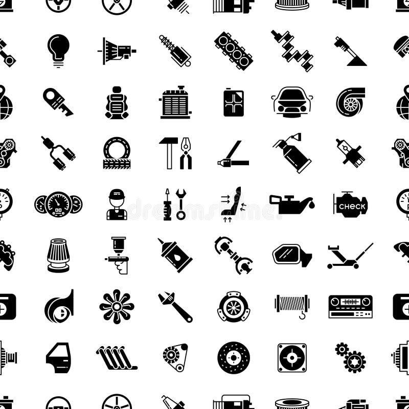 Картина вектора запасных частей автомобиля безшовная бесплатная иллюстрация