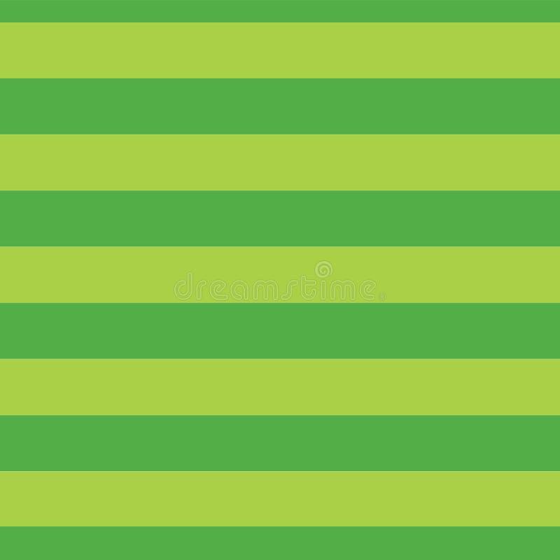 Картина вектора зеленых нашивок известки безшовная Темная и салатовая striped картина Горизонтальные прямые Горизонтальные нашивк иллюстрация вектора