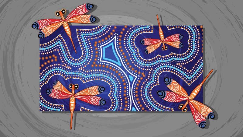 Картина вектора искусства Dragonfly аборигенная иллюстрация вектора