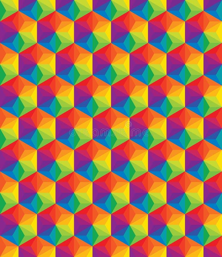 Картина вектора красочная геометрических форм бесплатная иллюстрация