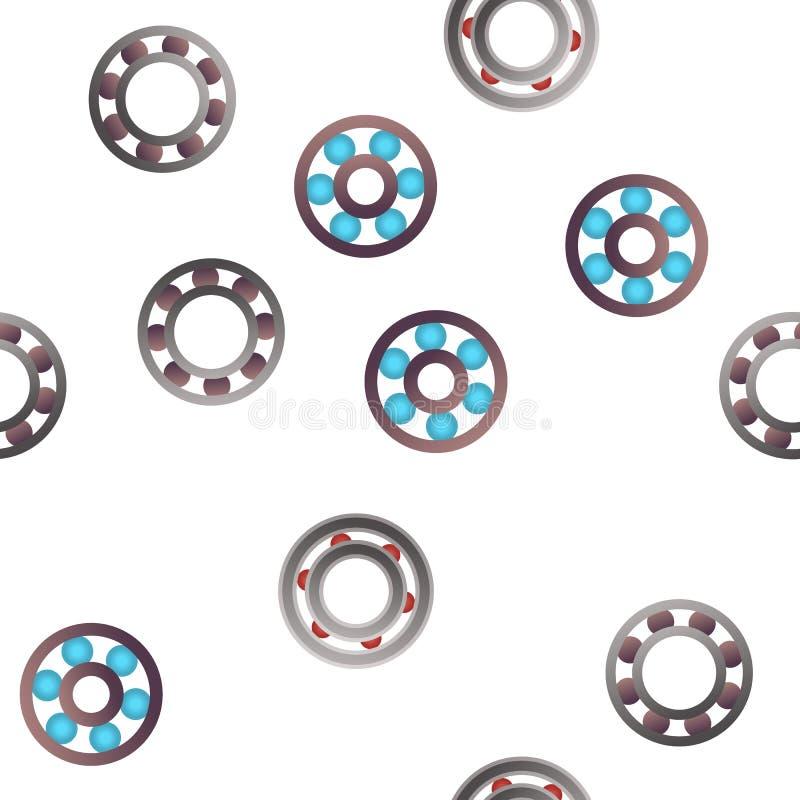 Картина вектора механизма шарикоподшипника безшовная бесплатная иллюстрация