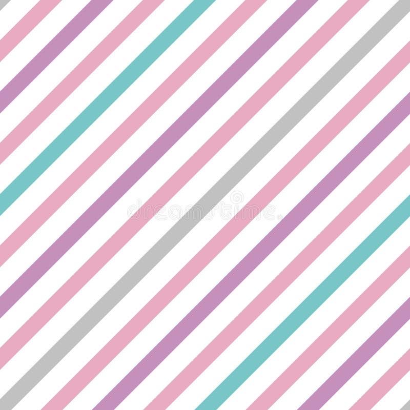 Картина вектора пастельная простая безшовная с нашивками иллюстрация вектора