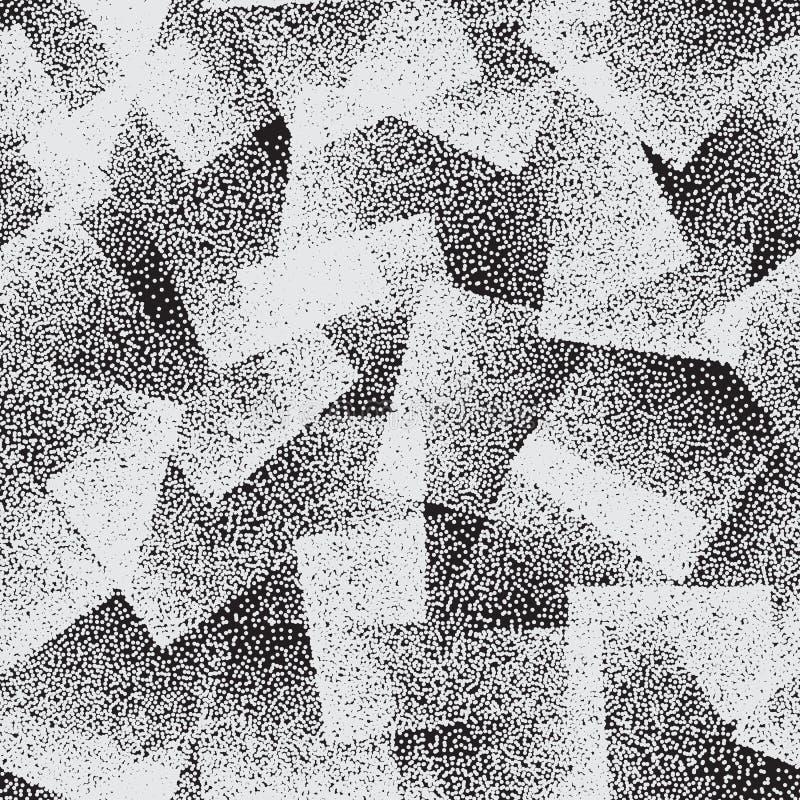 Картина вектора пунктированная конспектом странная безшовная иллюстрация вектора
