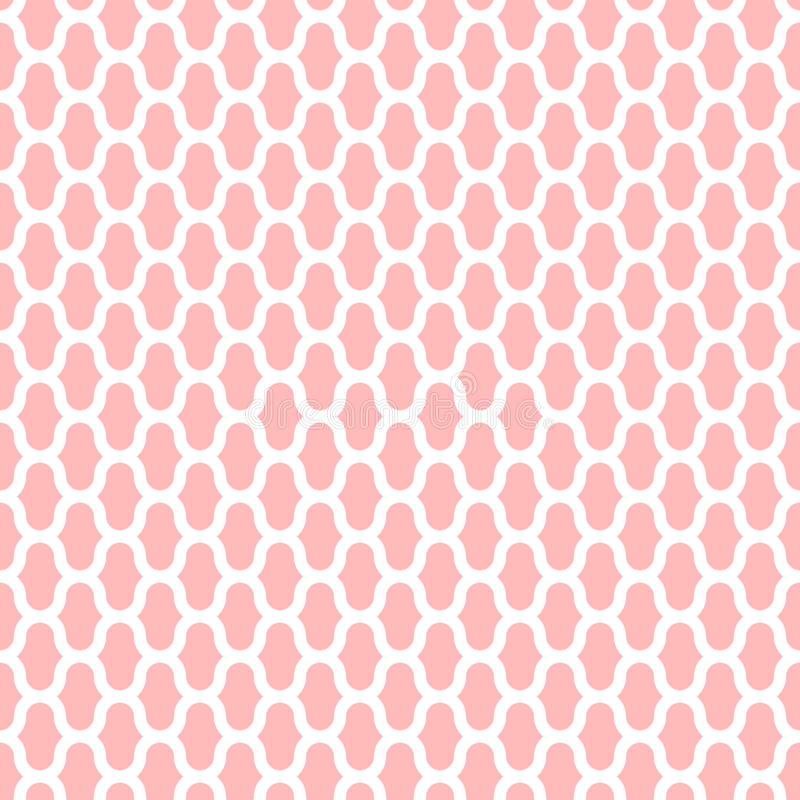 Картина вектора решетки безшовная, геометрическая абстрактная предпосылка розового и белого цвета Современная простая линия орнам бесплатная иллюстрация