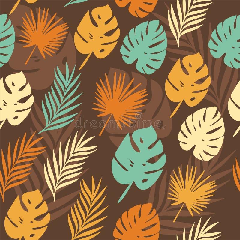 Картина вектора с тропическими листьями бесплатная иллюстрация