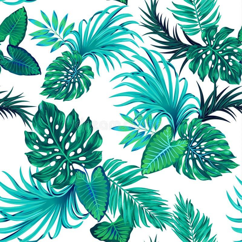Картина вектора тропическая с ладонями бесплатная иллюстрация
