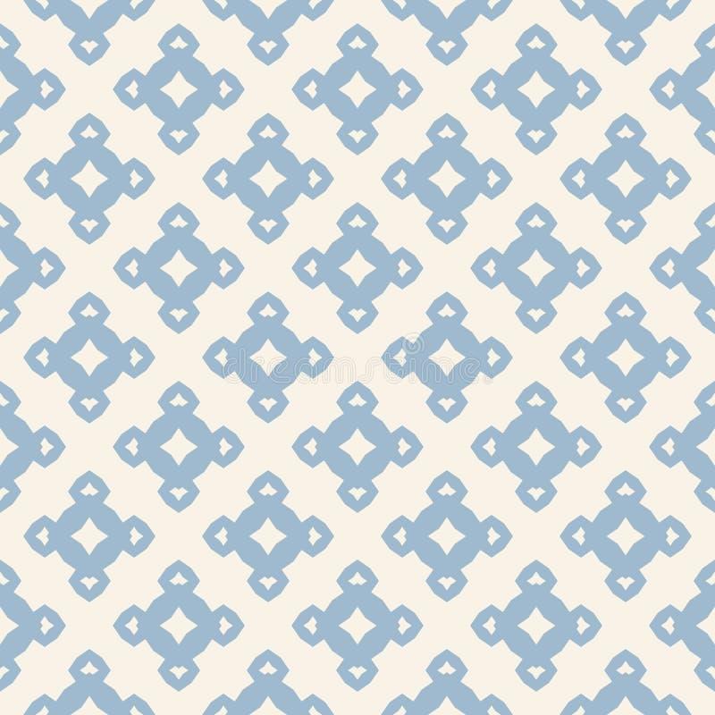 Картина вектора флористическая безшовная Винтажная текстура в цветах света - голубых и белых бесплатная иллюстрация