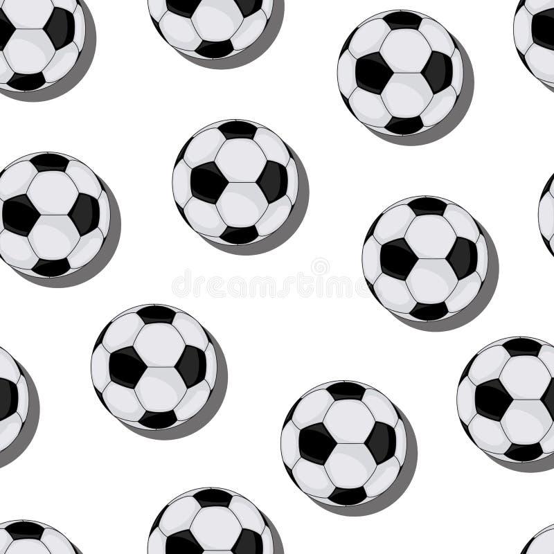 Картина вектора футбола безшовная иллюстрация штока