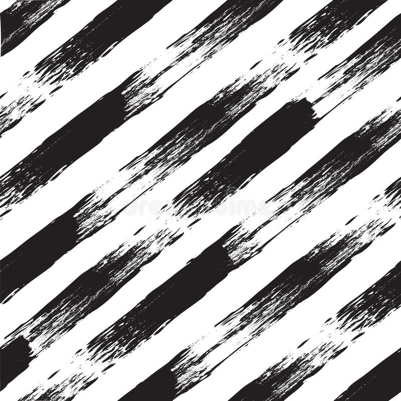 Картина вектора черно-белая безшовная с линиями Прослеженная акварель бесплатная иллюстрация