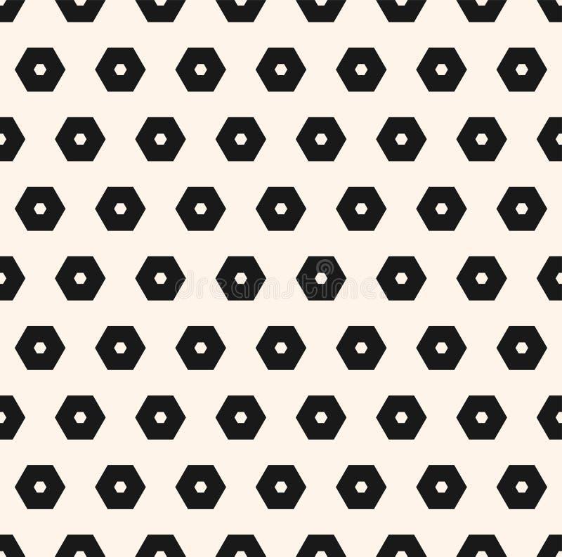 Картина вектора шестиугольников Абстрактная геометрическая безшовная текстура иллюстрация вектора