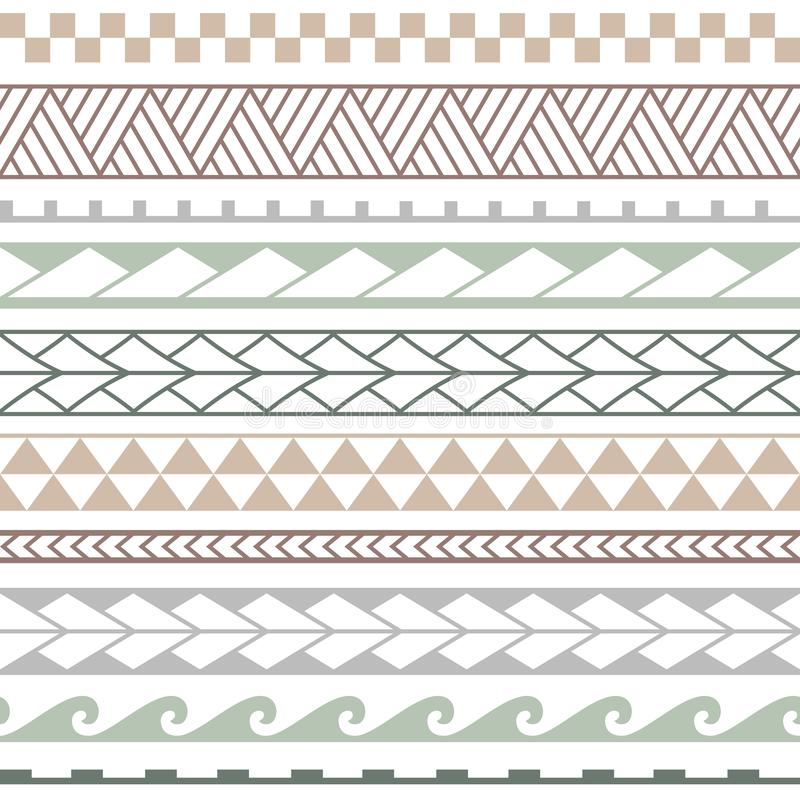 Картина вектора этническая безшовная в маорийском стиле иллюстрация штока