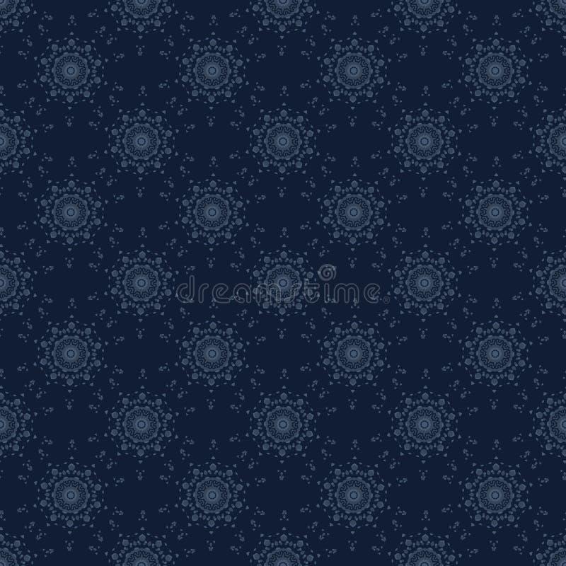 Картина вектора японского стиля мотива цветка арабескы безшовная вычерченная рука иллюстрация штока