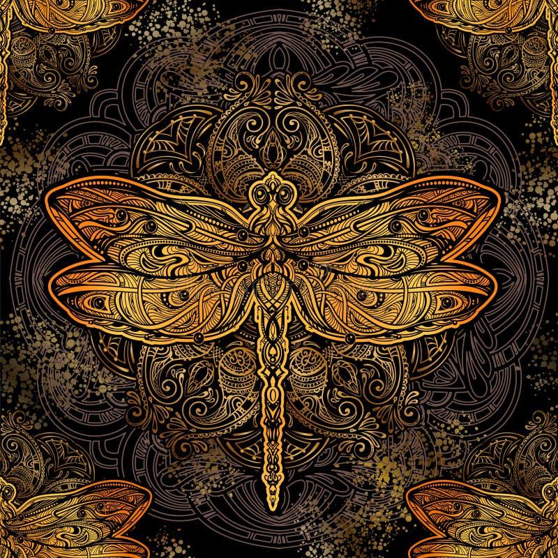 Картина вектора Dragonfly иллюстрация вектора
