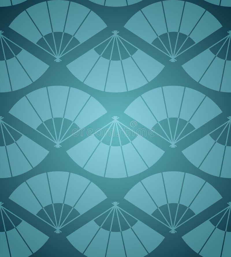 Картина вентилятора Японии иллюстрация вектора