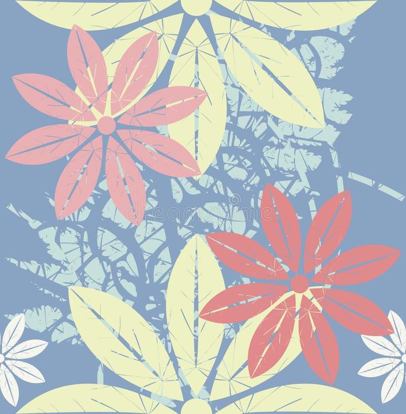 Картина весны бесконечная с стильными цветками бесплатная иллюстрация