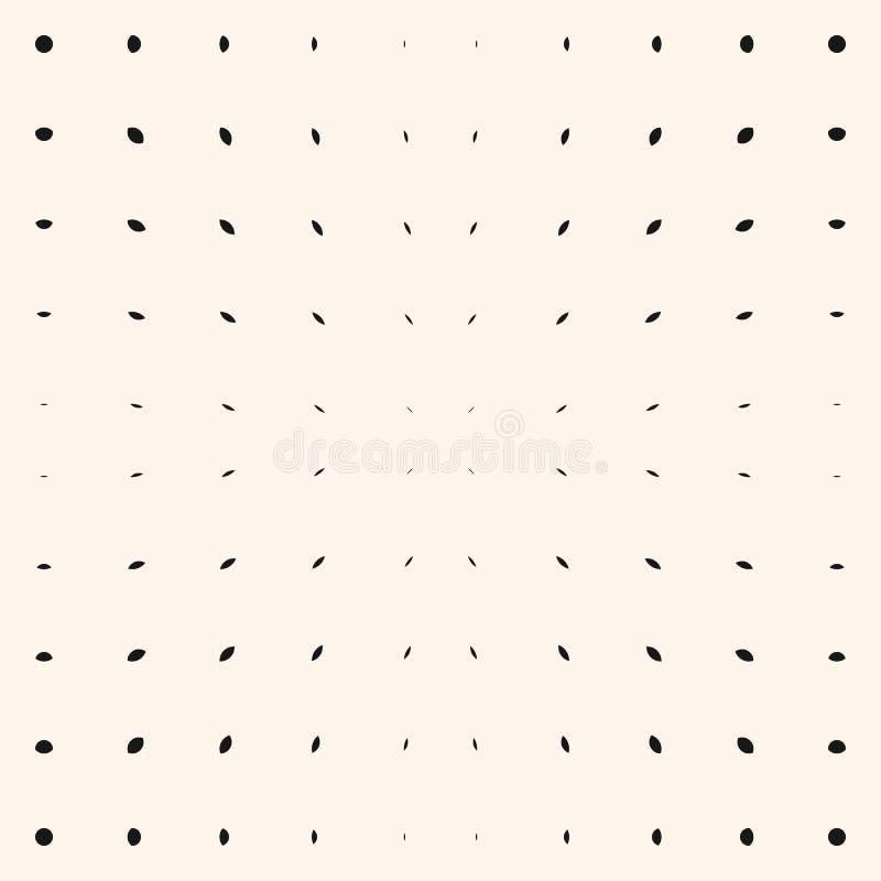 Картина взрыва вектора Черные точки и линии на белой предпосылке Радиальное полутоновое изображение бесплатная иллюстрация