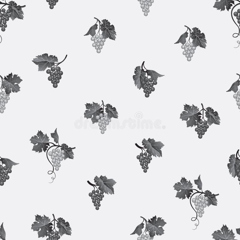 картина виноградины безшовная Предпосылка еды плодоовощ двора вина естественная иллюстрация штока