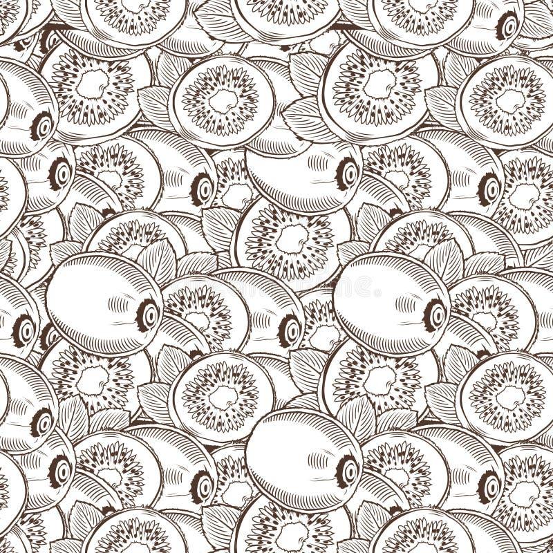 Картина винтажного кивиа безшовная бесплатная иллюстрация