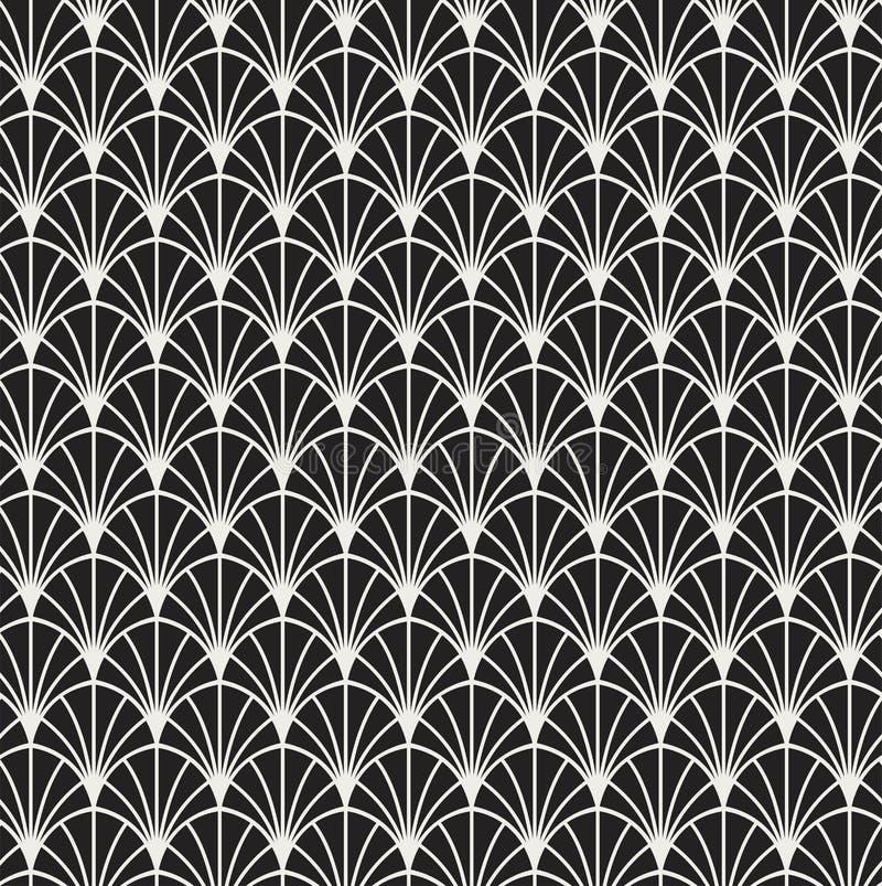 Картина винтажного стиля Арт Деко вектора безшовная стоковая фотография rf