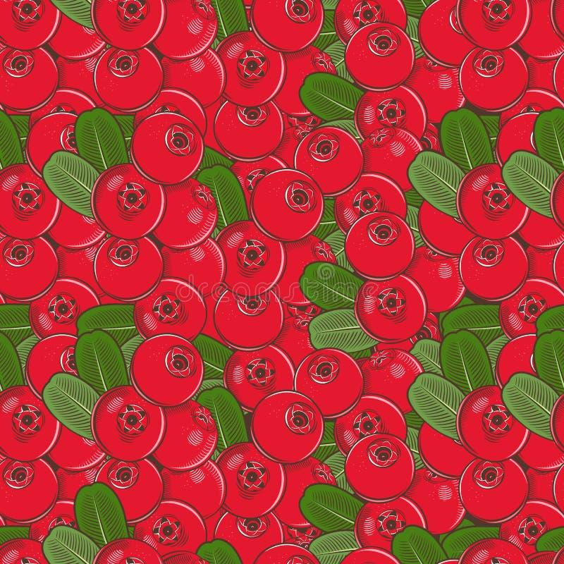 Картина винтажного Cowberry безшовная бесплатная иллюстрация