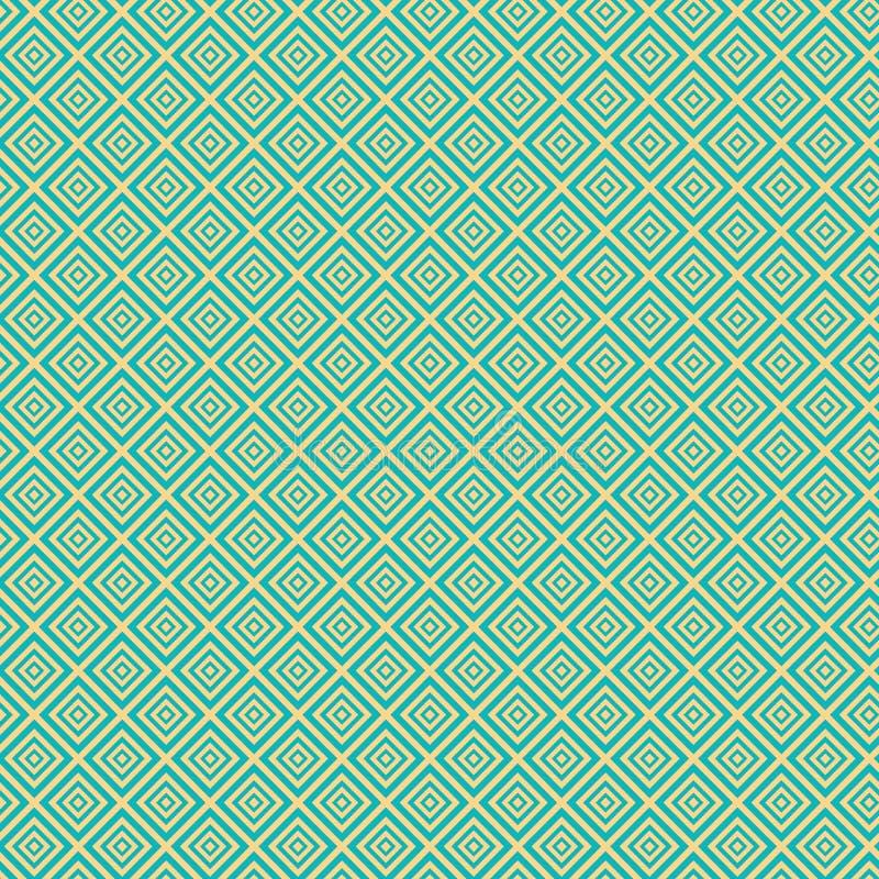 Картина винтажной бирюзы безшовная иллюстрация вектора