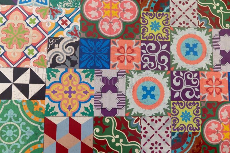 Картина винтажной тенденции моды плиток цемента текстуры плитки стены стиля стоковое изображение rf