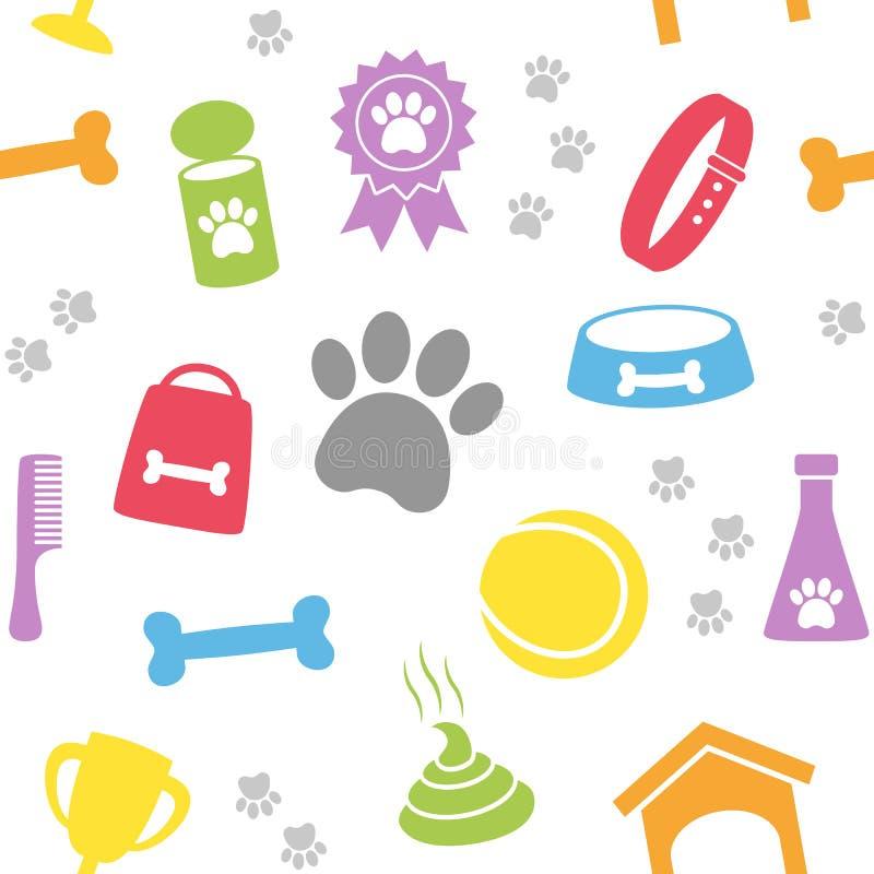 Картина внимательности собаки безшовная иллюстрация вектора