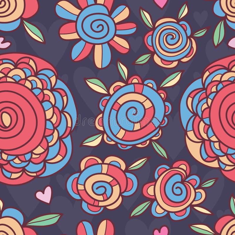 Картина внутренности свирли цветка безшовная бесплатная иллюстрация