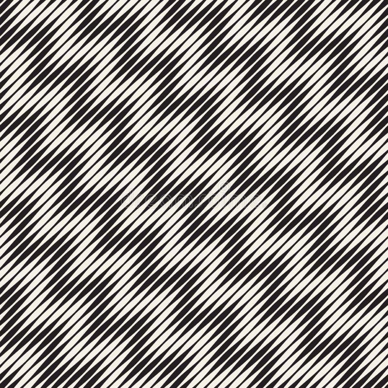 Картина волнистого вектора нашивок безшовная Ретро волнистая текстура гравировки Геометрические линии дизайн зигзага n бесплатная иллюстрация