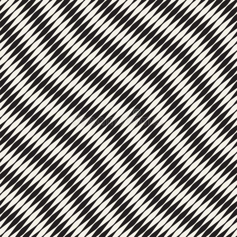 Картина волнистого вектора нашивок безшовная Ретро волнистая текстура гравировки Геометрические линии дизайн зигзага n иллюстрация вектора