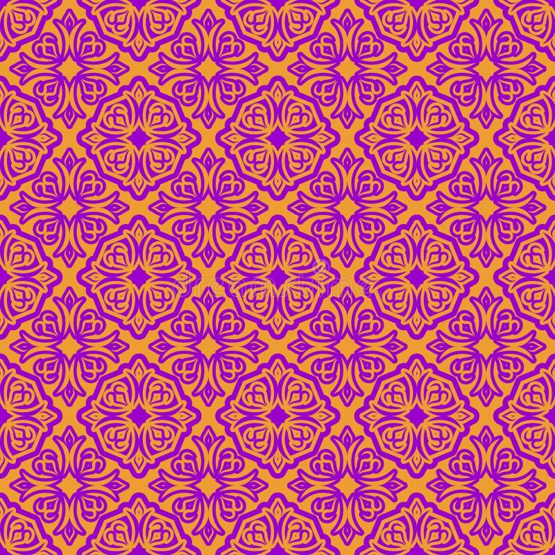 Картина восточного ислама стиля безшовная праздник Рамазана Mubara иллюстрация вектора