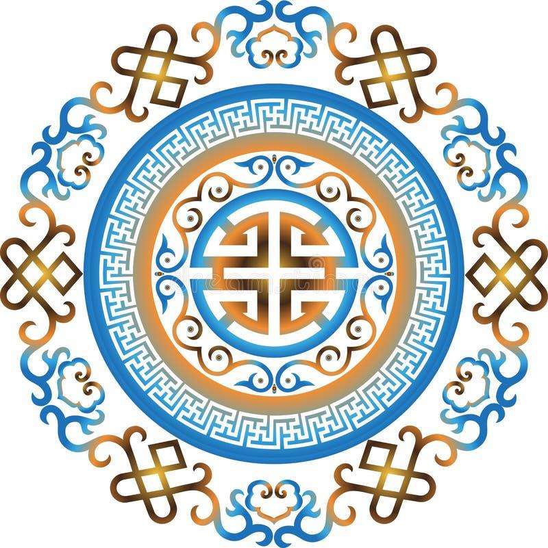 Картина восточного китайского орнамента вектора азиатская традиционная стоковое фото