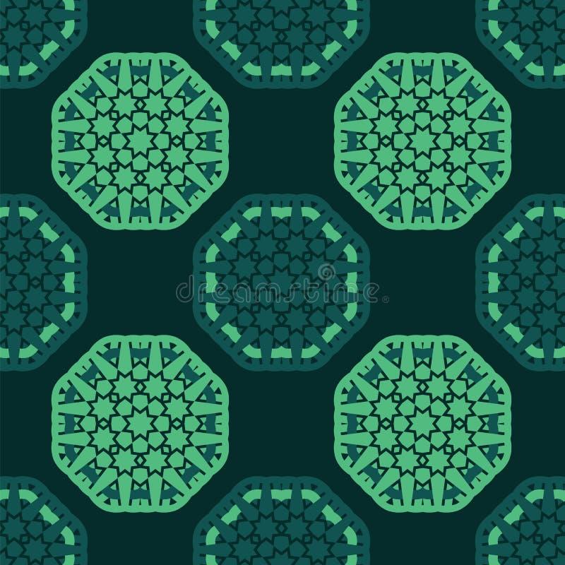 Картина восьмиугольника безшовная иллюстрация вектора