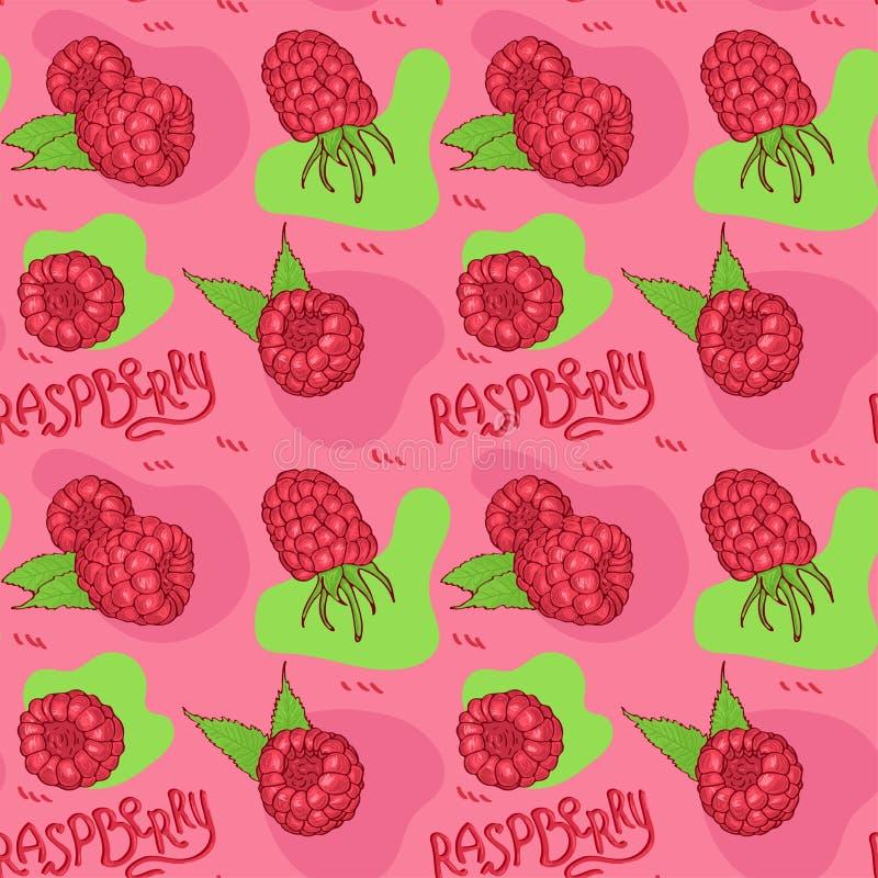 Картина вычерченной поленики руки безшовная на розовой предпосылке бесплатная иллюстрация