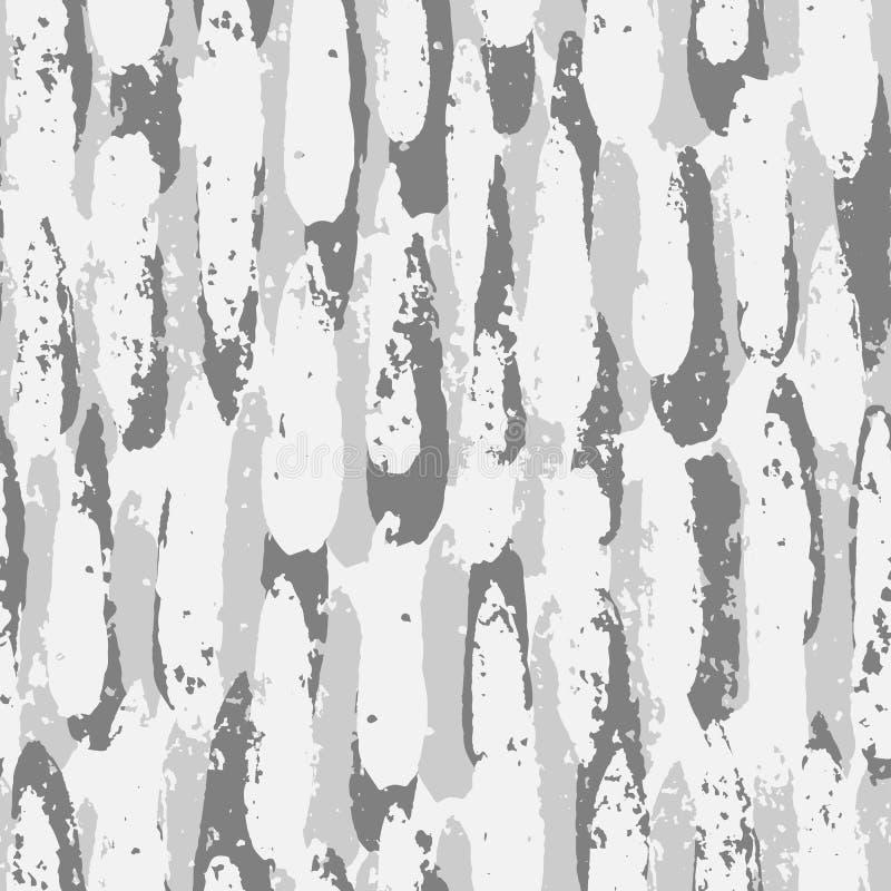 Картина вычерченной художественной щетки руки безшовная Абстрактный фон нашивок иллюстрация вектора