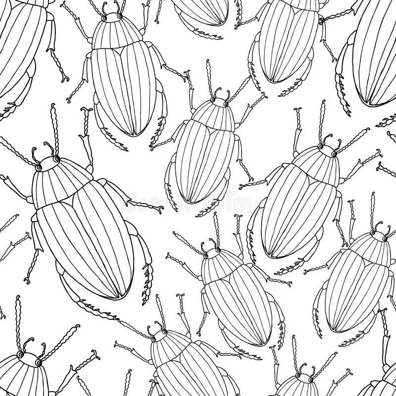 Картина вычерченных жуков бесплатная иллюстрация