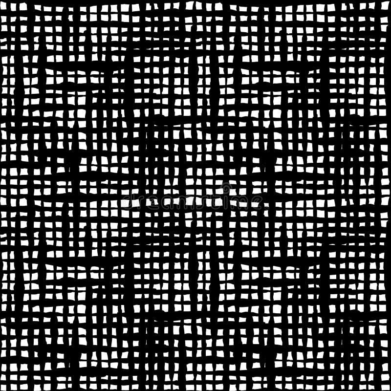 Картина вычерченных чернил руки проверки Boho безшовная бесплатная иллюстрация