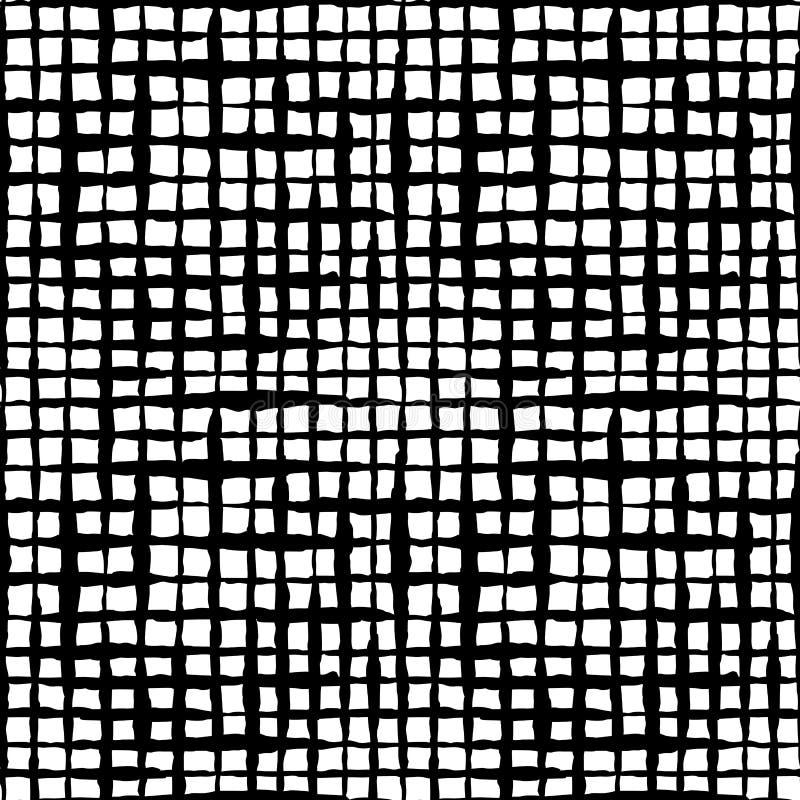 Картина вычерченных чернил руки проверки Boho безшовная иллюстрация вектора