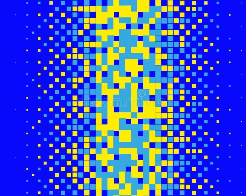Картина в стиле 8-разрядных графиков с небольшими квадратами Ретро картина 80's Масштабируемые векторные графики иллюстрация штока