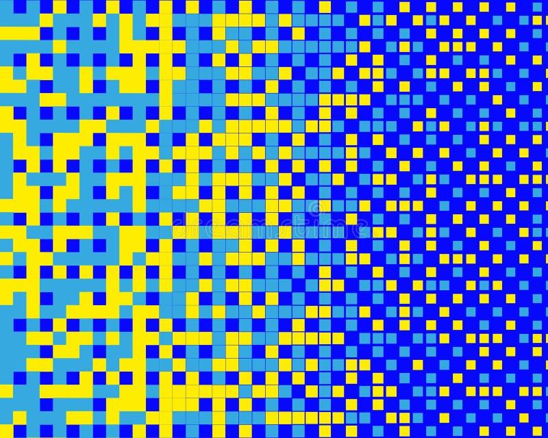 Картина в стиле 8-разрядных графиков с небольшими квадратами Ретро картина 80's Масштабируемые векторные графики иллюстрация вектора