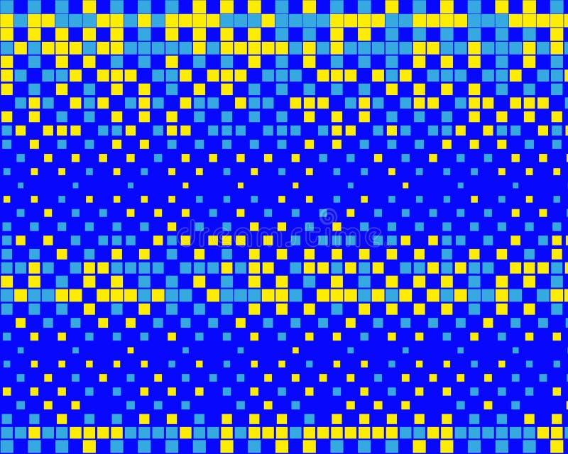 Картина в стиле 8-разрядных графиков с небольшими квадратами Ретро картина 80's Масштабируемые векторные графики бесплатная иллюстрация
