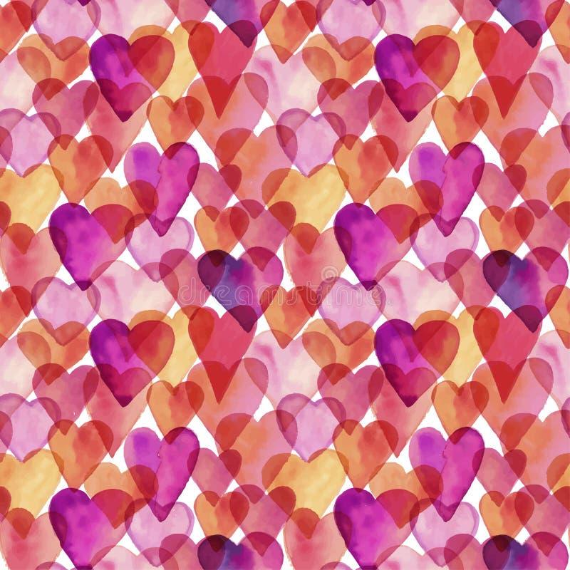 Картина влюбленности акварели дизайна безшовного вектора художническая бесплатная иллюстрация